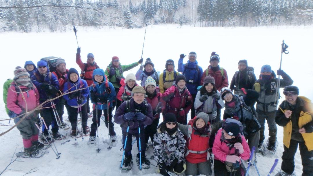 スノーハイクで里山の冬を満喫!